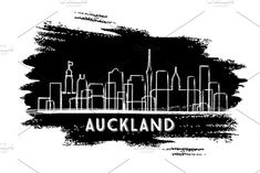 Auckland New Zealand City Skyline Silhouette. Business Travel and Tourism Concept with Modern Architecture. Frankfurt Skyline, Skyline Tattoo, Skyline Art, Havana, Brazil Cities, Washington Dc City, New Zealand Cities, Silhouette, Sao Paulo