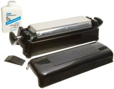 Norton IM 313CIS Soft Arkansas Sharpening Kit by Norton. $217.54. From the Manufacturer                Kit contains three (one each: course, medium and soft) very large 11-1/2-Inch by 2-1/2-Inch oil stones in a convenient, east-to-use system. Kit also includes a reservoir unit, angle guide and 16-Ounce of honing oil.                                    Product Description                 The Norton IM313CIS soft Arkansas sharpening kit includes a 100-grit silicon carbide, a 240-...