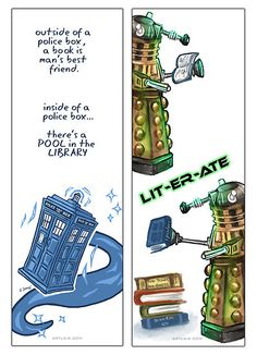 Doctor Who Bookmark Designs 2011 by Jessica Feinberg