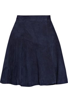 Yves Saint Laurent|High-waisted suede wrap skirt|NET-A-PORTER.COM - StyleSays