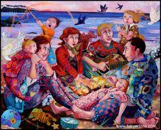 """Faby artiste peintre - """"Comme un phare dans la nuit """""""