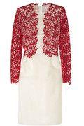 Giambattista Valli     Floral-lace and silk-organza dress