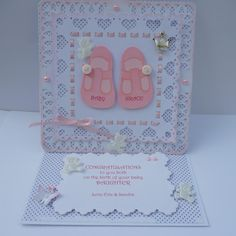 by Sandra.... a baby congrats easel card
