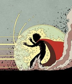 Great re-interpretation of a pivotal Akira scene #akira #stoppingbullets #print