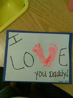 Simple Idea for Infant Fathers Day Craft!!