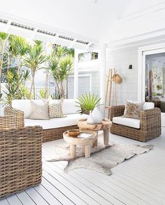 outdoor rooms Tante S!fr@ loves thisWhat a beautiful way to introduce our new full-outdoor range, The Himba Sofas Made with an aluminum frame and Polyrattan, these beauties can sit in t Outdoor Rooms, Outdoor Sofa, Outdoor Living, Outdoor Cushions, Outdoor Beach Decor, Exterior Design, Interior And Exterior, Outdoor Range, Beach House Decor