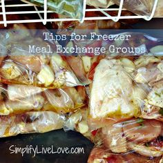 Tips for Setting up a Freezer Meal Exchange Group from @Michelle Marine. This recipe is a great resource for freezer cooking.