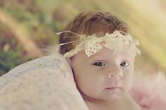 """Beautiful  """"Lilianna's Kiss"""" tie back whimsical headband with thick lace and pearl accent. - pinned by pin4etsy.com"""