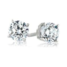 IGI Certified 18k White Gold Round-Cut 4-Prong Diamond Studs (3/4 cttw, H-I Color, SI1-SI2 Clarity) Amazon Curated Collection. $1430.00. All our diamond suppliers certify that to their best knowledge their diamonds are not conflict diamonds.. The total diamond carat weight listed is approximate. Variances may be up to .05 carats.