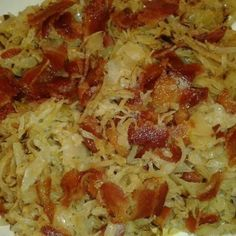 Sauerkraut Make and share this Fried Sauerkraut recipe from .Make and share this Fried Sauerkraut recipe from . Oktoberfest Party, Oktoberfest Hairstyle, Bacon Recipes, Vegetable Recipes, Cooking Recipes, Healthy Recipes, Sauerkraut Recipes, Cabbage Recipes, German Recipes