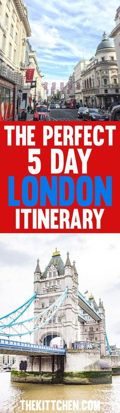I've spent a lot of time in London so I made the perfect London itinerary that will show you all of the best highlights of this must-visit city. #london #unitedkingdom ***** London England | London travel | UK destinations | Europe destinations | London attractions | Things to do in London | London itinerary 5 days