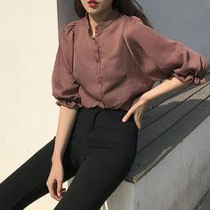 Casual Women Comfy Outfits To Look Awesome – Trendy Fashion Ideas Korean Fashion Trends, Asian Fashion, Girl Fashion, Fashion Outfits, Fashion Ideas, 90s Fashion, Trendy Fashion, Seoul Fashion, Fashion Spring