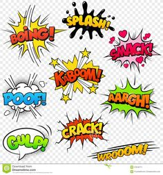 Comic Sound Effects stock vector. Illustration of cartoon - .- Comic Sound Effects stock vector. Illustration of cartoon – 37618771 Comic Sound Effects Image – Image: 37618771 - Letras Comic, Comic Sound Effects, Pop Art, Comic Art, Comic Books, Image Comics, Arte Pop, Superhero Party, Art Plastique