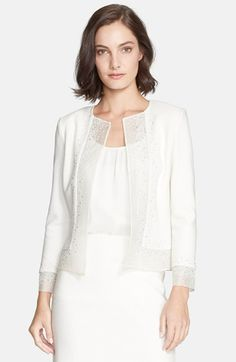 Women's St. John Collection Sequin Embellished Boucle Knit Jacket