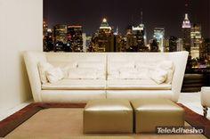 Fotomurales New York Night. Ideas decoración academia de inglés #decoración #academia #inglés #ideas #vinilo #TeleAdhesivo