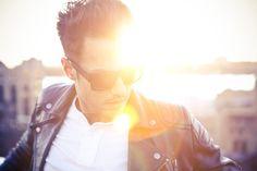 shades. leather. sunset.