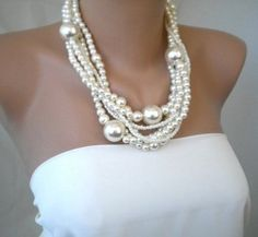 Wedding, Pearl, Necklace - Pearl necklace