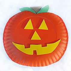 Paper Plate Jack-O-Lantern | Crafts | Spoonful & Pumpkin Paper Plate: 13 plates... HAPPY BIRTHDAY green paper curly ...