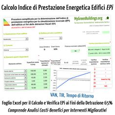 Calcolo indice prestazione energetica EPi gratis detrazioni fiscali 55