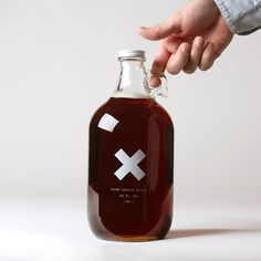 Maple syrup label clear