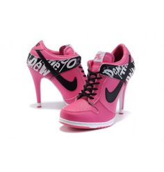 Women Nike Dunk Low Heels shoes In Pink wndh0020 sale