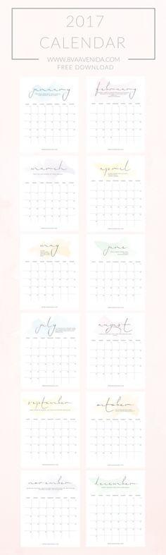Calendarios 2017  | Día 1 #SEMANADEMETAS