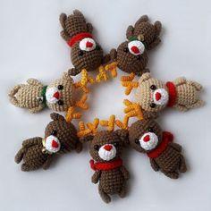 Free crochet reindeer amigurumi pattern