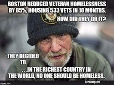 """Massachusetts has moved 533 homeless veterans out of shelters and into permanent homes in the past 18 months, since """"Boston Homes for the Brave"""" was launched in June, 2014.  http://www.bostonnews.net/index.php/sid/240072721"""