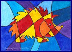 Ježek – teplé a studené barvy Art School, Painting, Painting Art, Paintings, Painted Canvas, Drawings