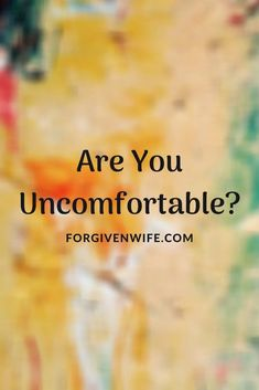 Discomfort is often the impetus to growth. Are you uncomfortable enough in your marriage to want to make some changes? What will it take? Forgiveness, Marriage, Take That, How To Make, Valentines Day Weddings, Mariage, Weddings, Casamento, Letting Go