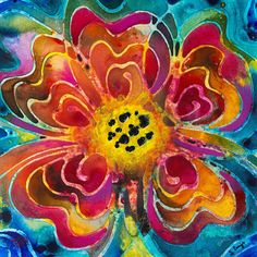 Colorful Flower Art - Summer Love By Sharon Cummings Painting