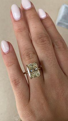 Cushion Diamond Ring, Cushion Cut Diamonds, Diamond Rings, Dream Engagement Rings, Art Deco Diamond, Wedding Beauty, Yellow Gold Rings, Diamond Wedding Bands, Colored Diamonds
