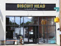 Biscuit Head Restaurant - BILTMORE AVE, ASHEVILLE, NC OR  733 Haywood Rd. (closed Mondays) Asheville, NC 28806 Mon–Fri 7am–2pm, Sat&Sun 8am–3pm