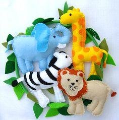 Cute felt-elephant design