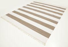 Cotton stripe - Ruskea-matto 250x300