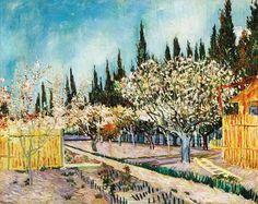 Vincent Van Gogh - Post Impressionism - Arles - Verger avec cyprès - 1888