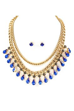 Sadie Necklace in Paris Blue