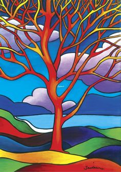 Mhaigh Eo Fine Art Print - Saileen Drumm Art Mhaigh Eo Meaning Plain of the Yew Tree. Fairy Tree, Art Story, Acrylic Canvas, Stained Glass Patterns, Tree Art, Landscape Art, Art Drawings, Drawing Art, Art Projects