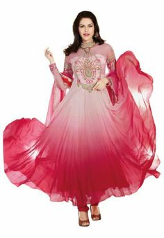 Fabdeal Women's Indian Designer Wear Embroidered Anarkali Suit Pink Fabdeal, http://www.amazon.de/dp/B00GAPYWU8/ref=cm_sw_r_pi_dp_U09otb174R39R