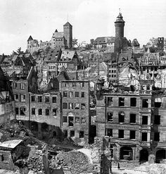 1945 Nuremberg Nuremberg Germany, Bavaria Germany, Nuremberg Trials, Germany Castles, Old Pictures, World War Ii, Paris Skyline, Trip Advisor, Monochrome