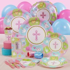 Sweet Blessing Pink Baptism/christening Standard Party Pack For 8 - http://www.247babygifts.net/sweet-blessing-pink-baptismchristening-standard-party-pack-for-8/
