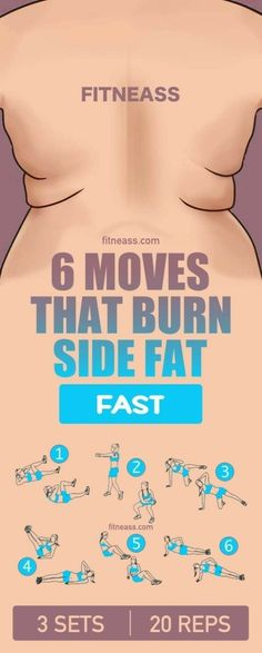 6 moves that burn side fat fast   Posted By: AdvancedWeightLossTips.com
