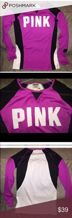 NWT RARE Victoria's Secret PINK size L top!! Long sleeve top! Victoria's Secret Tops Tees - Long Sleeve