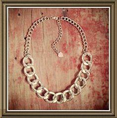 Collar plateado metal $105