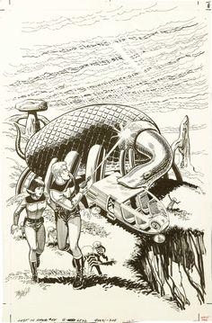 Original Comic Art:Covers, Dan Spiegle - Space Family Robinson Lost in Space #55 UnpublishedAlternate Cover Original Art (Whitman, 1981).... Image #1