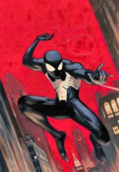 Siper-Man by Paolo Rivera Marvel Comics, Heros Comics, Comics Anime, Hq Marvel, Marvel Heroes, Black Spiderman, Amazing Spiderman, Spiderman Kunst, Siper Man