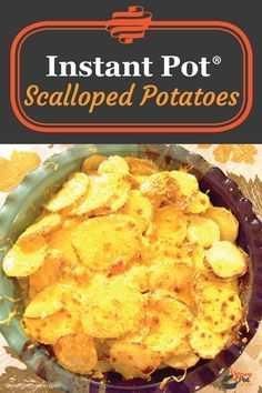 Instant Pot® Scalloped Potatoes - Cheesy and full of flavor, these potatoes come together in a matter of minutes thanks to our favorite appliance, the Instant Pot®! Instant Pot Pressure Cooker, Pressure Cooker Recipes, Pressure Cooking, Slow Cooker, Top Recipes, Best Dessert Recipes, Potato Recipes, Recipies, Vegan Recipes