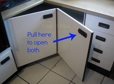 Hometalk :: Create Easy Access to the Kitchen Corner Cabinets