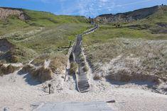Treppe vom Stand bei Bovbjerg