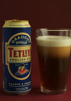 Tetley's English Ale - Not too realist a photo however. When I'm drinking this stuff my glass always seems to be empty!